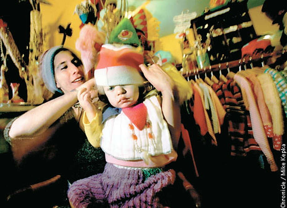 Siobhan Van Winkel and her daughter Hazel run Funktional Art in Oakland. Chronicle photo by Mike Kepka