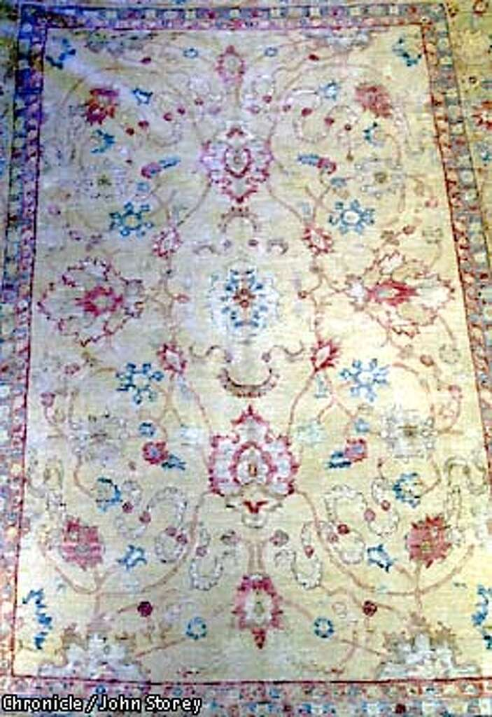 Richard Habib Of Alexander S Rugs In The Sf Design Center An Antiqued Polonaise Rug Made