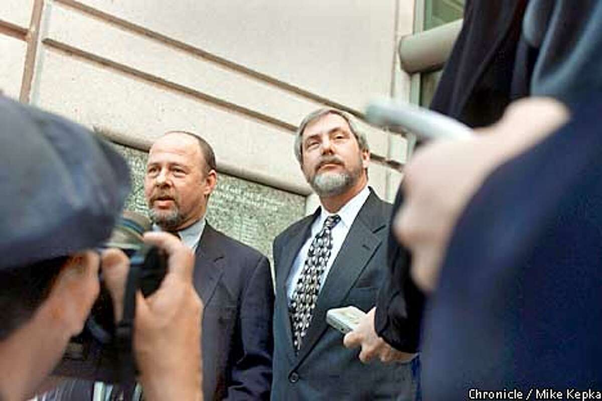 The attorneys defending the Bill and Emily Harris, Stuwart Hanlon and Charles Bourden. BY MIKE KEPKA/THE CHRONICLE