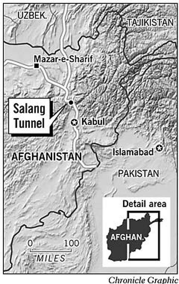 Salang Tunnel. Chronicle Graphic