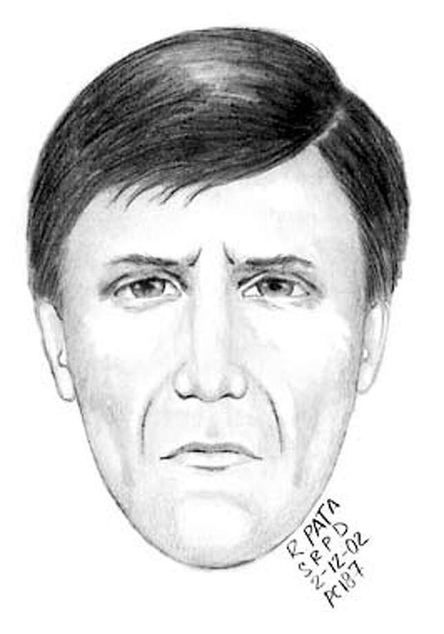 TEENDEATH-12FEB02-MT-BW--Suspect sketch in the stabbing of San Rafael youth. Photo: BRANT WARD