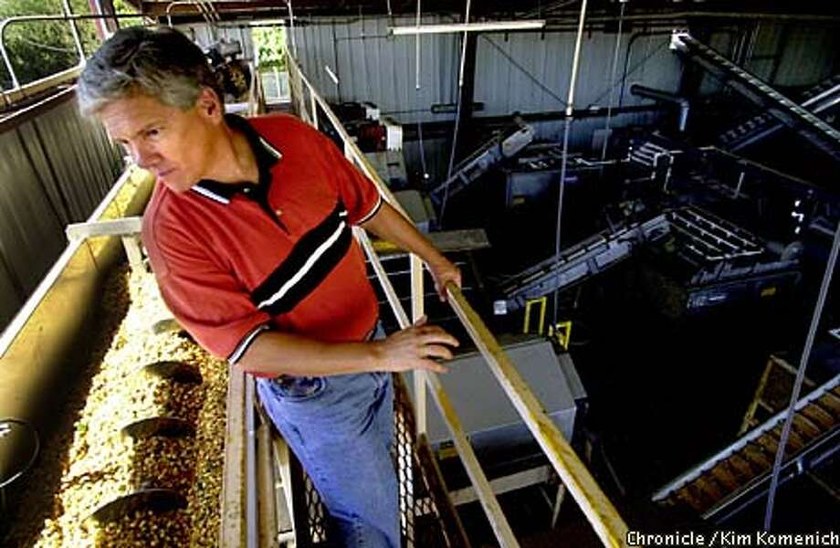 It's pistachio harvest time and Keenan Farms in Avenal is shaking trees, hulling, washing, roasting and packaging tons of nuts. Robert Keenan, president of Keenan Farms, oversees the washing and roasting processes. CHRONICLE PHOTO BYKIM KOMENICH Photo: Kim Komenich