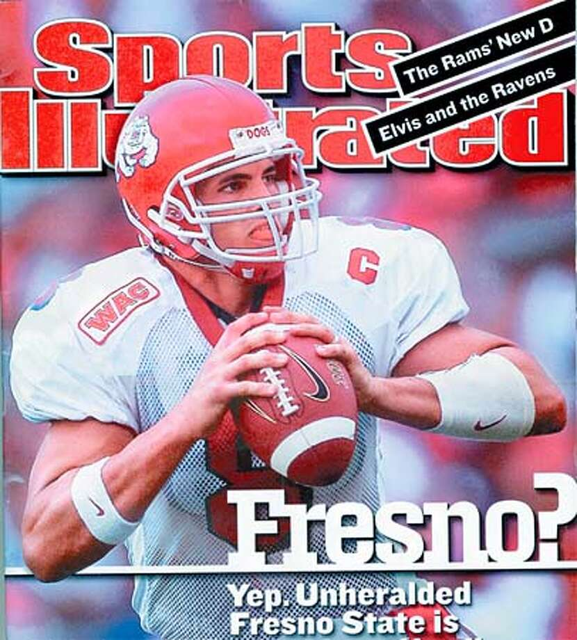 Quarterback David Carr recently became the first Fresno State athlete to be pictured on the cover of Sports Illustrated. Photo: HANDOUT