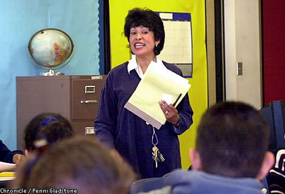 Ana Lunardi, first day as a principal at Monroe Elementary School in SF walked from class to class, personally introducing herself and answered any questions.  CHRONICLE PHOTO BY PENNI GLADSTONE Photo: Penni Gladstone