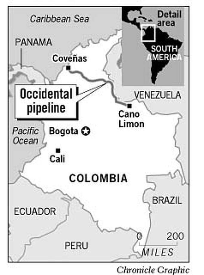 Occidental Pipeline. Chronicle Graphic