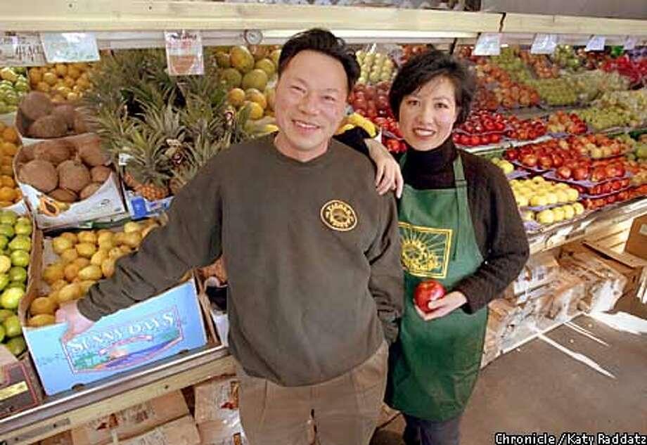 Photo by Katy Raddatz--The Chronicle  Joe and Diana Tam in their market in Oakland called Farmer Joe's. Photo: KATY RADDATZ