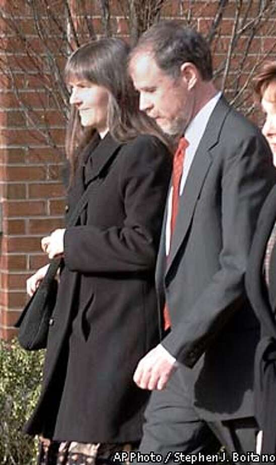 Marilyn Walker and Frank Lindh, parents of captured Taliban John Walker Lindh enter the federal court where their son was attending a hearing on his release on Wednesday, Feb. 6, 2002 in Alexandria Va . (AP Photo/Stephen J. Boitano) Photo: STEPHEN J. BOITANO