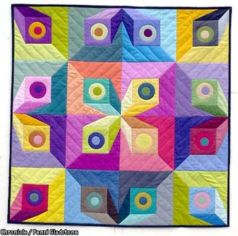 This untitled quilt is by Sally Davey owner of New Pieces, a quilting store in Albany. This store and gallery focuses on quilting as art rather than traditional quilting. CHRONICLE PHOTO BY PENNI GLADSTONE Photo: Penni Gladstone