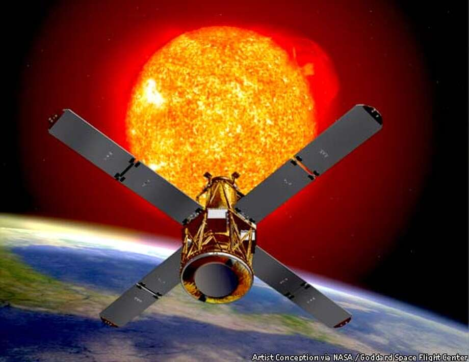 HESSI will study X-rays and gamma rays emitted during flare-ups of the sun. NASA illustration via Goddard Space Flight Center
