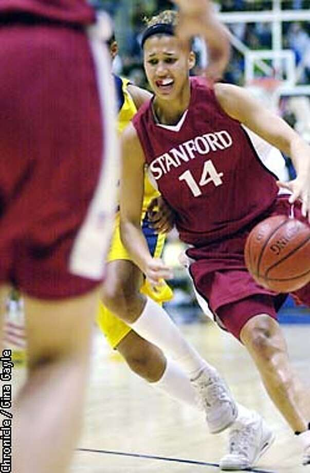 Stanford forward Nicole Powell drives to the basket against Cal in the first half. Photo by Gina Gayle/The SF Chronicle. Photo: GINA GAYLE