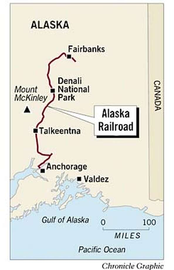 Alaska Railroad. Chronicle Graphic