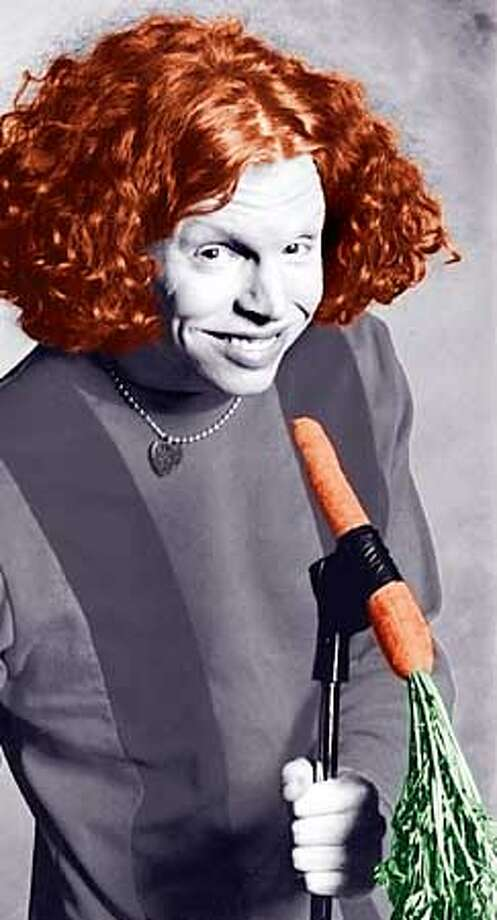 THIS IS A HANDOUT IMAGE. PLEASE VERIFY RIGHTS. Carrot Top at The Warfield Feb 10. HANDOUT.