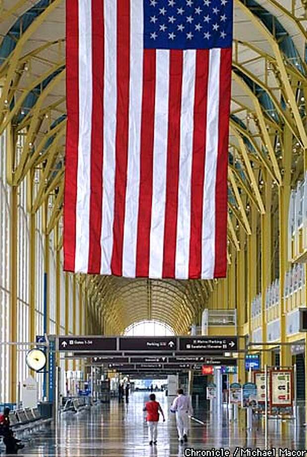 Ronald Reagan Washington National Airport remains closed since the terrorist attacks of last week. Besides a few maintainance workers the airport is empty. by Michael Macor/The Chronicle Photo: MICHAEL MACOR