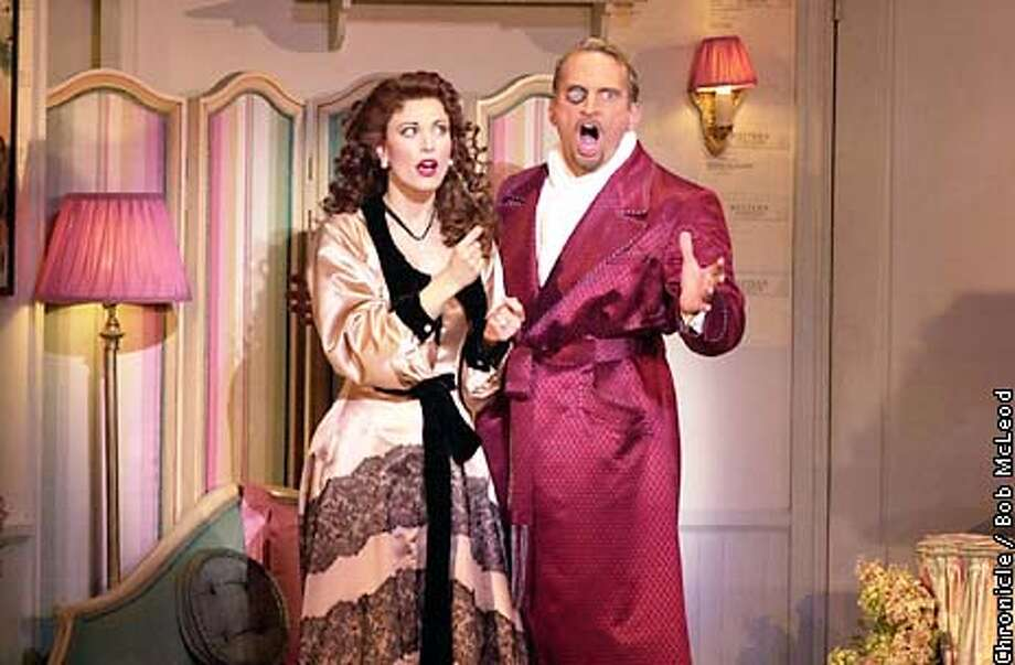Rachel York (the gal)and Rex Smith in Kiss Me Kate at the Orpheum.  chronicle photo by Bob McLeod Photo: BOB MCLEOD