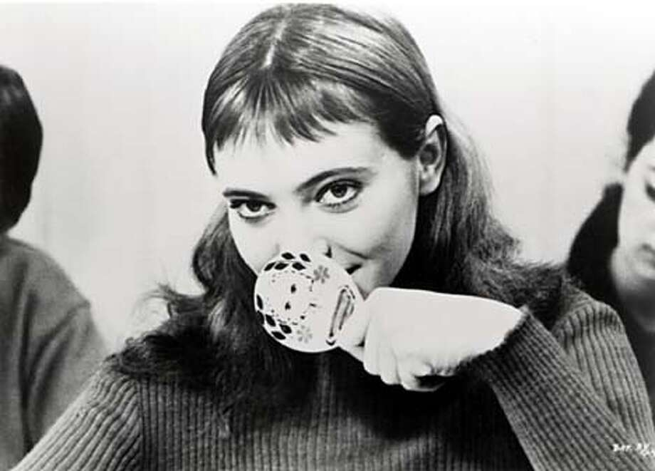 "Anna Karina in Jean-Luc Godard's film ""Band of Outsiders."" Photo: HO"