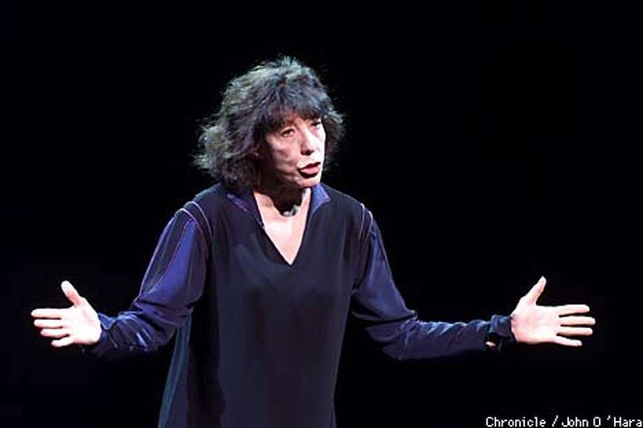 "THEATER ON THE SQUARE, San Francisco,CA  ""Lilly Tomlin"", one person show  photo/John O'Hara Photo: John O'Hara"