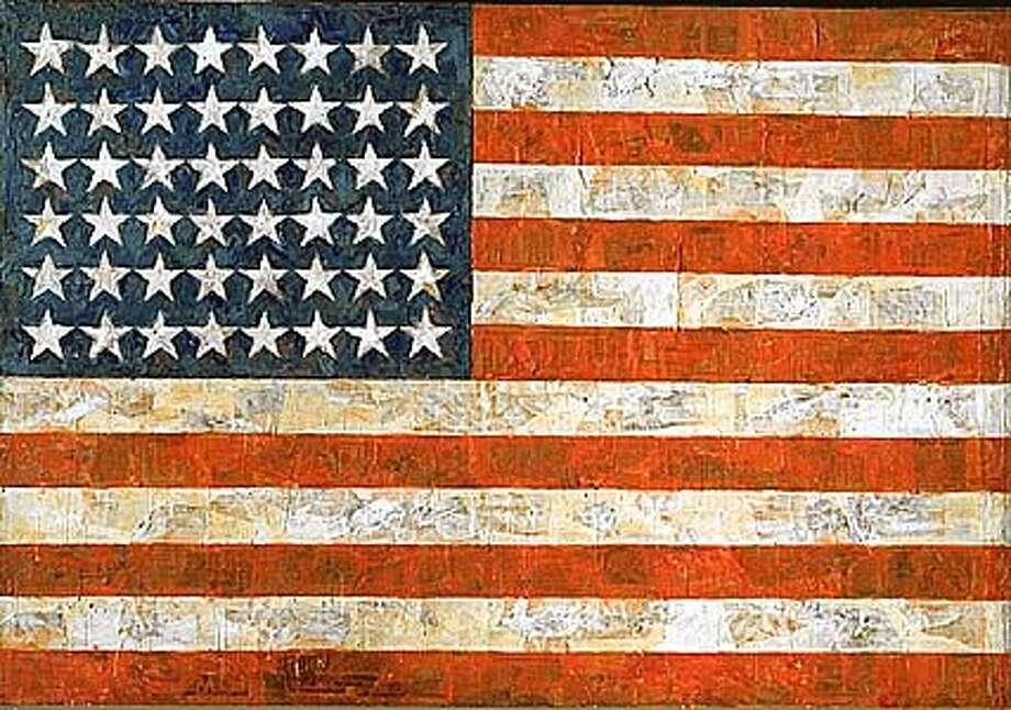 """Flag"" by Jasper Johns. Credit: SF MOMA, extended loan of Jean-Christophe Castelli."