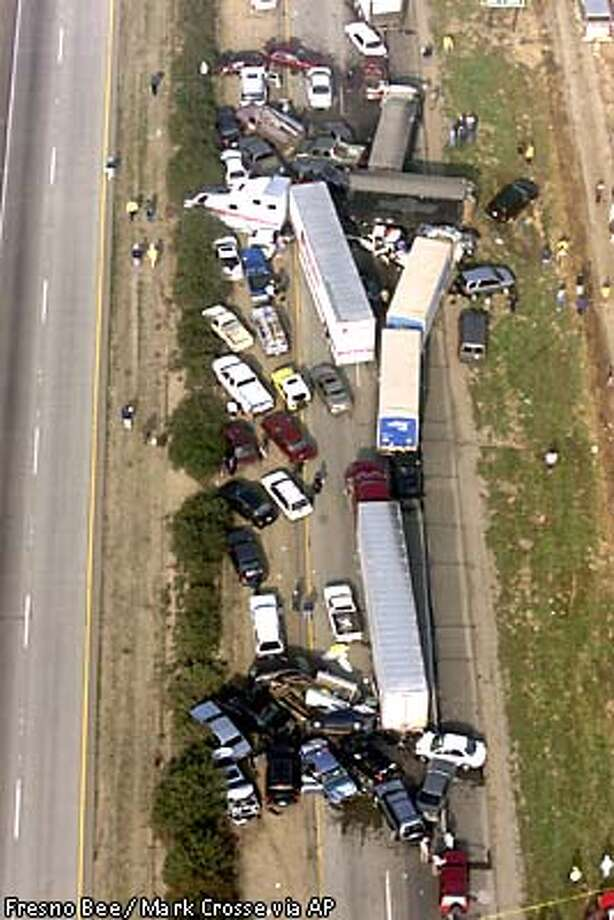 Deadly 90-car pileup / At least 2 killed, dozens injured on