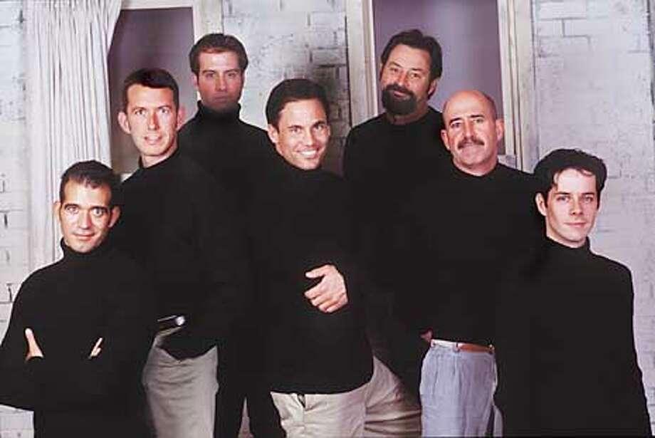 "The ensemble cast of ""Legion."" No names given. Legion, a world premiere drama by Hal Corley, runs Jan 23 - Apr 6. HANDOUT."