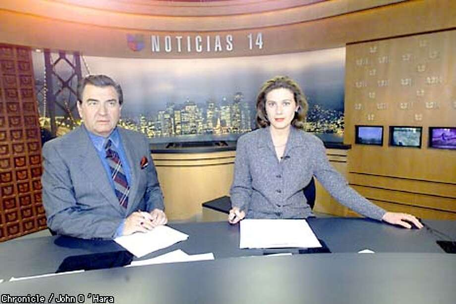41st Flr, #50 FREMONT ST. San Francisco,CA News Anchors Luis Echegoyen and Maria Leticia Gomez. Echegoyen is from Salvador and Gomez is from Argentinia. photo/John O'Hara Photo: John O'Hara