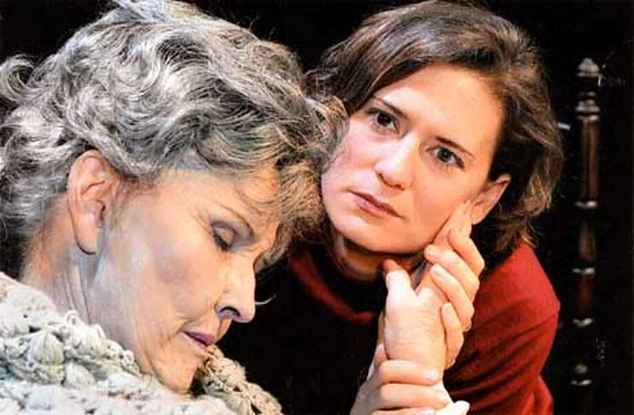 Center Repertory Company presents Amy's View. Pictured are, left to right, Georgia Prugh (Evelyn) and Eowyn Mader (Amy). Photo: HANDOUT