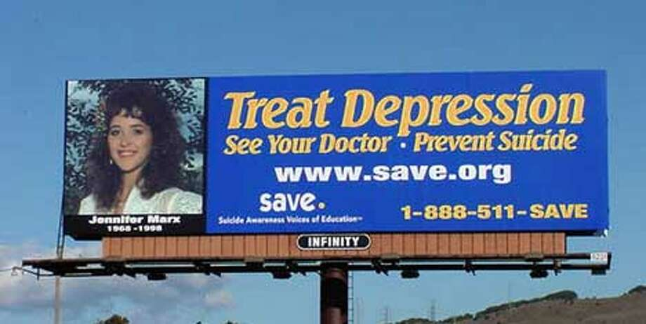 Jennifer Marx committed suicide in 1998, and now her mother is hoping this billboard in Vallejo will save others.
