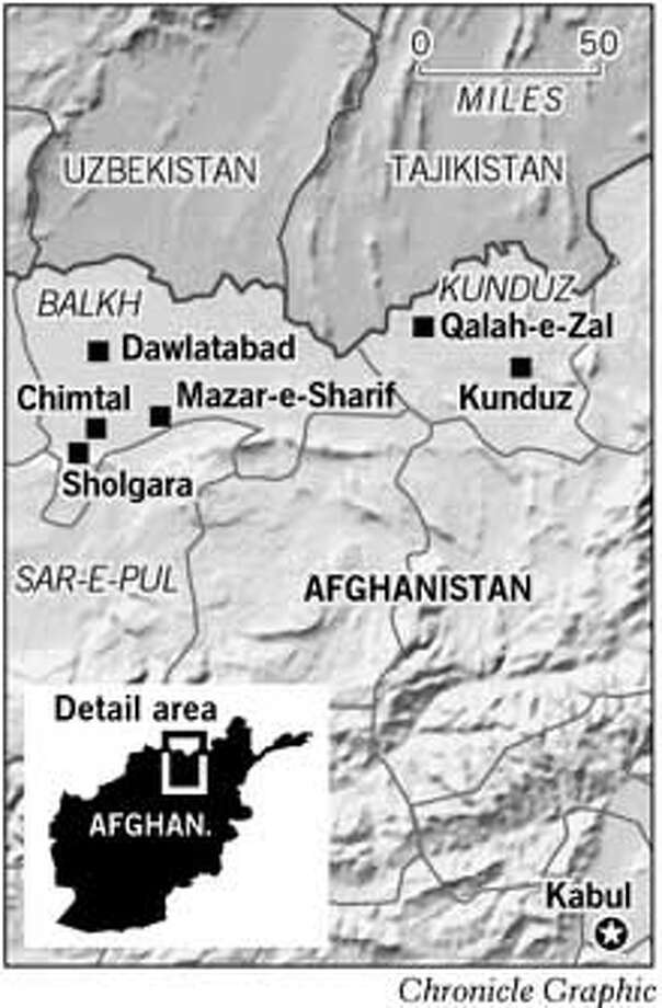 Northern Afghanistan. Chronicle Graphic