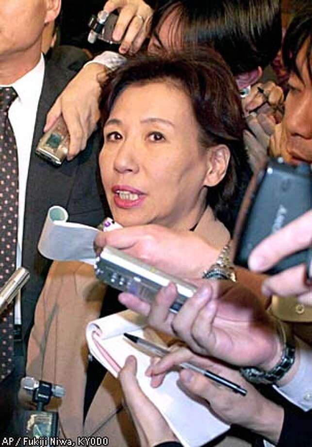 Makiko Tanaka may be replaced by Sadako Ogata, former U.N. high commissioner for refugees. Kyodo photo by Fukiji Niwa via Associated Press