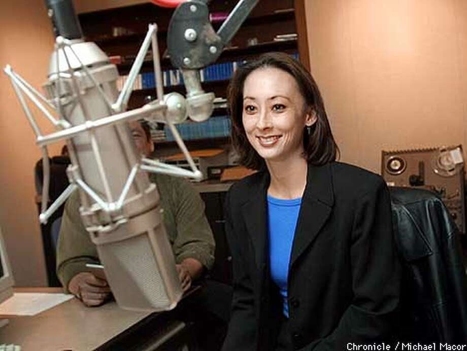 Henwood at radio station KDFC recording radio spots to promote the symphony. Catherine Barker-Henwood, new executive editor of the Berkeley Symphony. by Michael Macor/The Chronicle Photo: MICHAEL MACOR