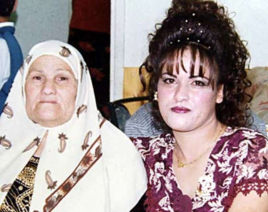 Wasfiyeh Idris (left), mother of Wafa Idris, said she was proud of her daughter. Family Photo