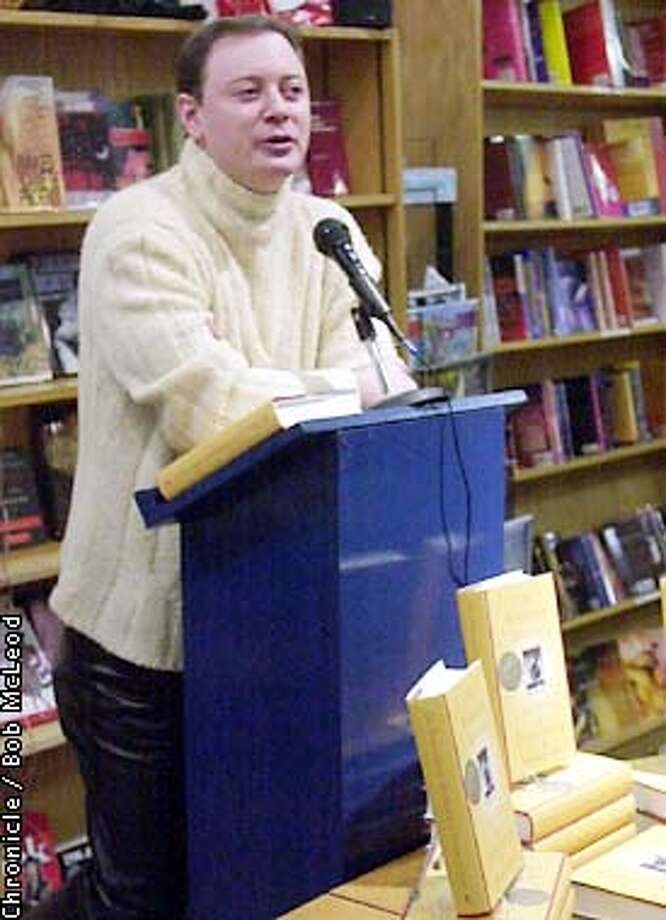 "SEEKING03a-C-24JAN02-LV-BM  Andrew Solomon, writer of ""Noonday Demon"", speaks at bookstore ""A Different Light"", in San Francisco.  chronicle photo by Bob McLeod Photo: BOB MCLEOD"