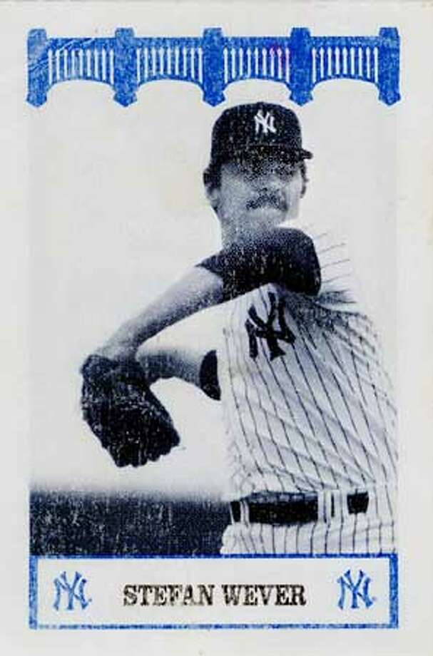 A Yankees of the 80's card series baseball card of pitcher Stefan Weaver. Photo: HANDOUT