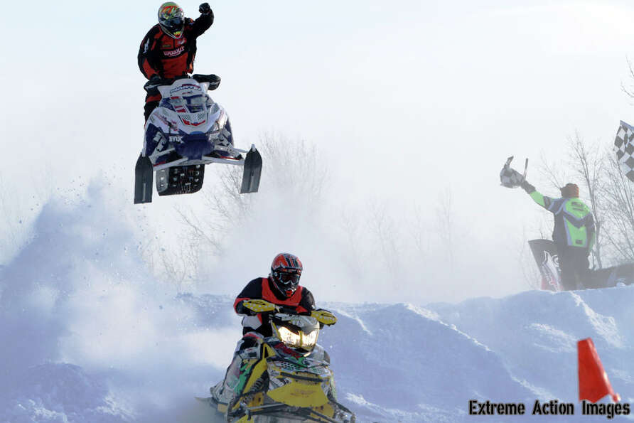 Photo by George ?Geo? Roach Jr. Team Southside Polaris Snocross Athlete Dylan Martin #937 wins the P