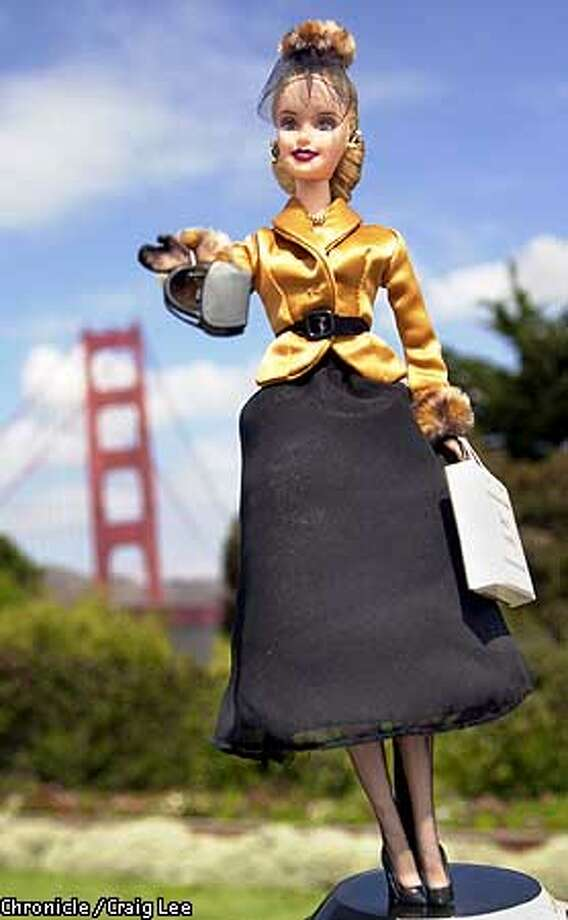 "Limited issue Barbie doll called the ""I Left My Heart in San Francisco Barbie,"" the city's newest tourism marketing tool. Doll is avialable this month in See's Candies stores for $28 a piece. SF Convention & Visitors Bureau will make money off the licensing. Photo by Crag Lee/San Francisco Chronicle Photo: CRAIG LEE"