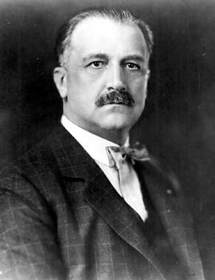 Bank of America founder A. P. Giannini made construction of the Golden Gate Bridge possible by directing BofA to purchase the first issue of bonds. This portrait is from the Band of America archives ca. 1927).