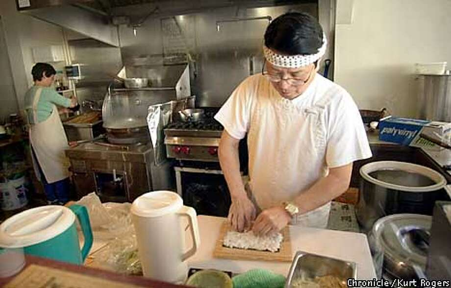 Tombo, a Japanese restaurant that specializes in handmade udon Masare Savito makes sushi..Photo By Kurt Rogers Photo: Kurt Rogers