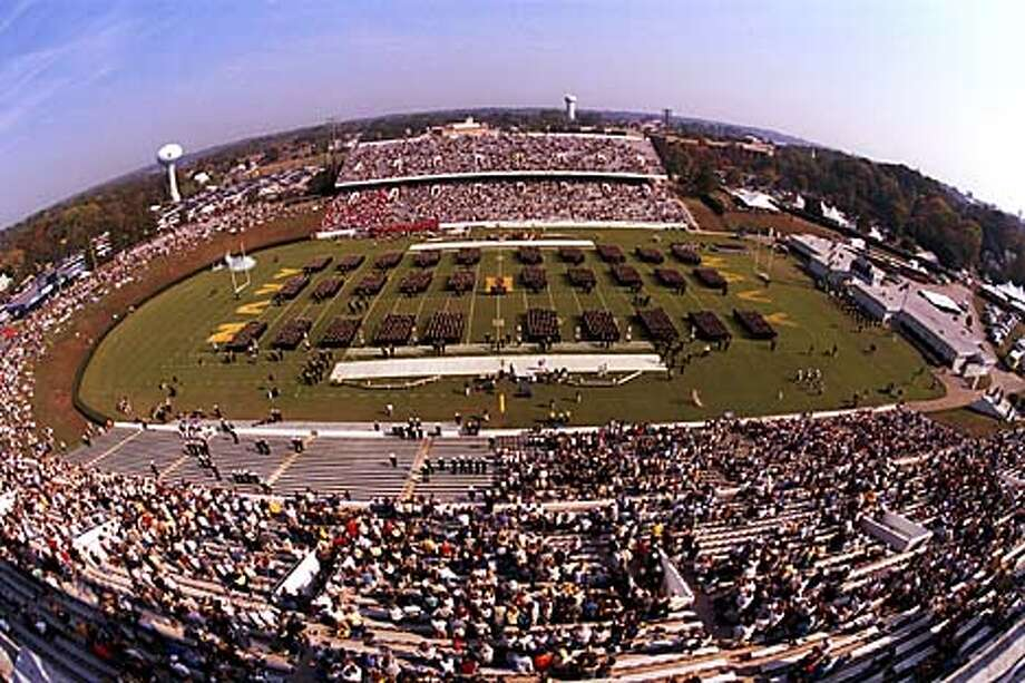 Fans and cadets fill Naval-Marine Corps Memorial Stadium. Photo courtesy of U.S. Naval Academy at Annapolis