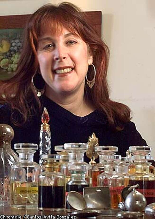 """Mandy Aftel, a custom perfumer and psychotherapist, who makes custom natural perfumes to order, has written a book about the mysticism of perfume and its lore called """"Essence and Alchemy' which also deals with making your own aromatherapy blends. (Photo by Carlos Avila Gonzalez/The San Francisco Chronicle) Photo: CARLOS AVILA GONZALEZ"""