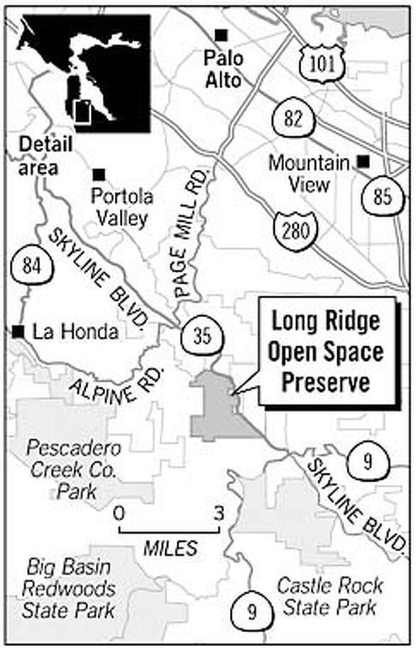 Long Ridge Open Space Preserve. Chronicle Graphic