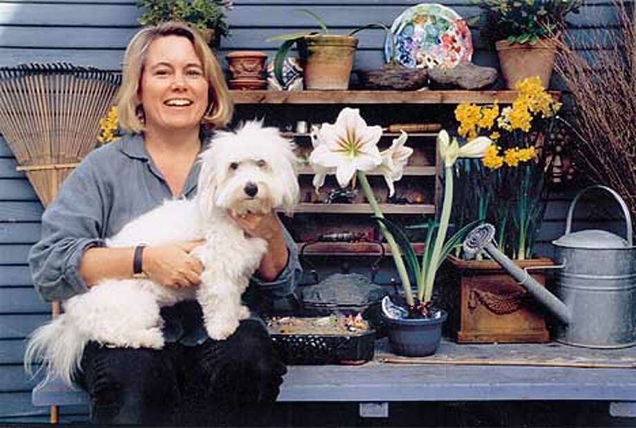 Elizabeth Murray with her dog Toolie. Photo: HANDOUT