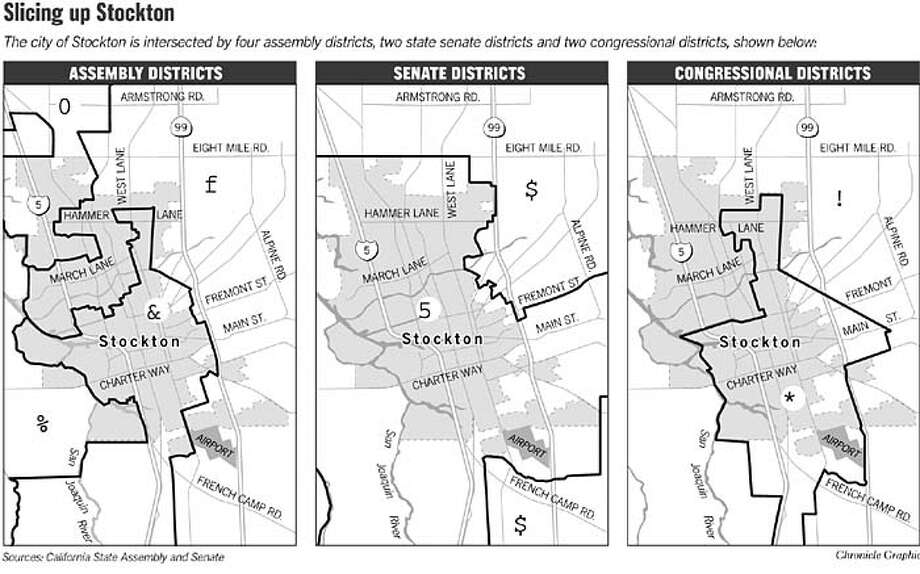 Slicing Up Stockton. Chronicle Graphic