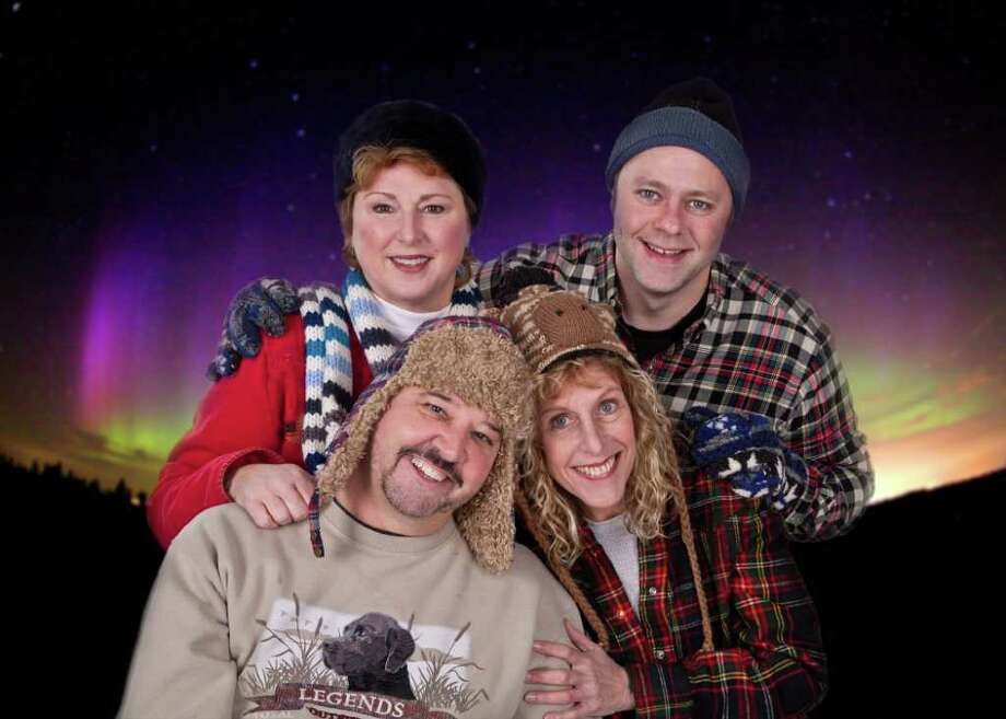 """Clockwise from upper left, Cynthia Hannah, Tim Reilly, Katie Sparer and Jim Schilling will appear in the MTC MainStage production of """"Almost, Maine"""" playing Friday, Feb. 3, to Sunday, Feb. 19. Photo: Contributed Photo"""