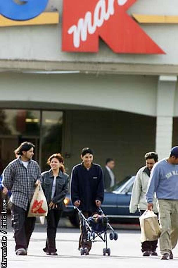 Shoppers at the Daly CIty KMART store.  KMART filed for bankruptcy protection today. BY ERIC LUSE/THE CHRONICLE Photo: ERIC LUSE
