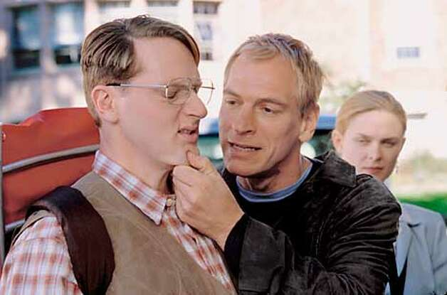 "MATT ROSS, JULIAN SANDS, EMILY DESCHANEL (from left) in ""Stephen King�s Rose Red,"" a chilling tale of Joyce Reardon (Nancy Travis), an obsessed psychology professor, who commissions a team of psychics and a gifted 15-year-old autistic girl to literally wake up a supposedly dormant haunted mansion: Rose Red, built in 1907 by Seattle oil magnate John P. Rimbauer. Their efforts unleash a myriad of spirits and uncover the horrifying secrets of the generations that have lived and died there. Among the large ensemble cast are two-time Tony Award-winner Judith Ivey, Kimberly Brown, Julian Sands and Matt Keeslar. The original, six-hour miniseries is set to air during the 2001-02 season on the ABC Television Network. Photographer: JIMMY MALECKI. HANDOUT. Photo: JIMMY MALECKI"