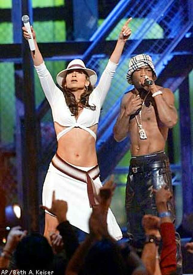 Jennifer Lopez performs with Ja Rule during the 2001 MTV Video Music Awards Thursday, Sept. 6, 2001, at New York's Metropolitan Opera House. (AP Photo/Beth A. Keiser) Photo: BETH A. KEISER