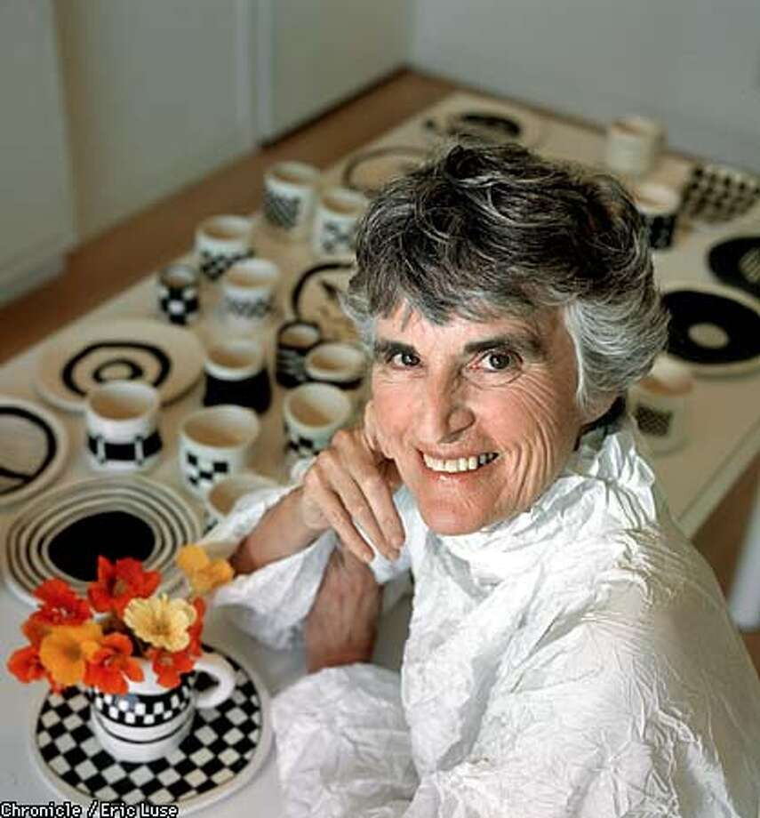 "Author/Artist Sue Bender in her Berkeley home with her handmade crooked ceramics. She makes them to ""celebrate the ordinary."" Her ceramics are not be be hung on a wall but to be used in everyday life. BY ERIC LUSE/THE CHRONICLE Photo: ERIC LUSE"