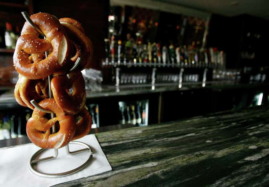Pretzels sit on the bar at the new restaurant, BRC, 519 Shepherd,  Tuesday, May 18, 2010. ( Karen Warren / Houston Chronicle ) Photo: Karen Warren / Houston Chronicle