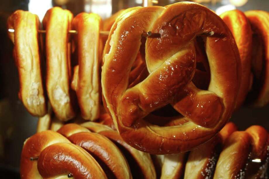 If you want to feel like you're eating from a concession stand, without the inconvenience of being at an actual concession stand, consider making your own soft pretzels in various flavors.  Photo: Melissa Phillip / Houston Chronicle
