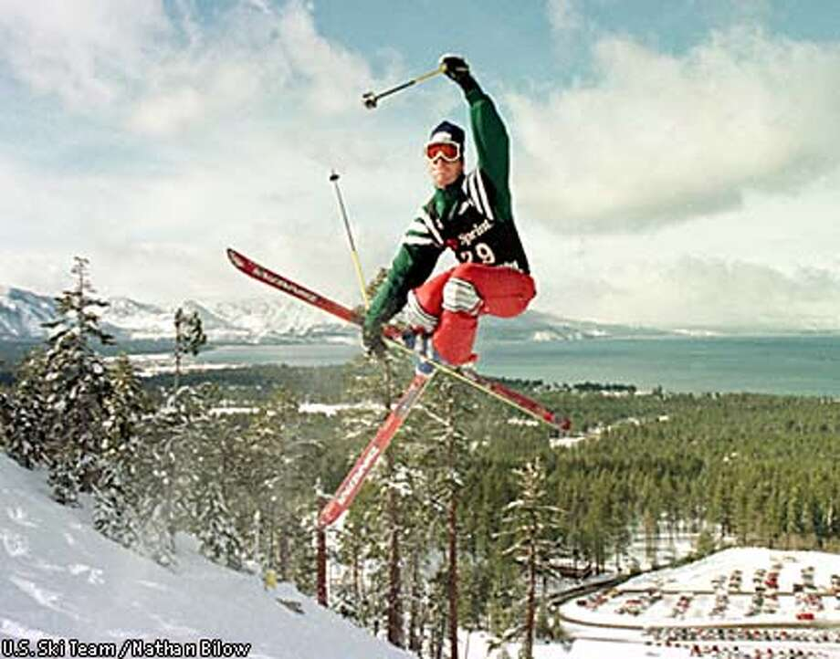 """Evan Dybvig rode his """"dude"""" status as far as it would take him after winning the gold medal in moguls in the 1998 Nagano, Japan Games. U.S. Ski Team photo by Nathan Bilow"""
