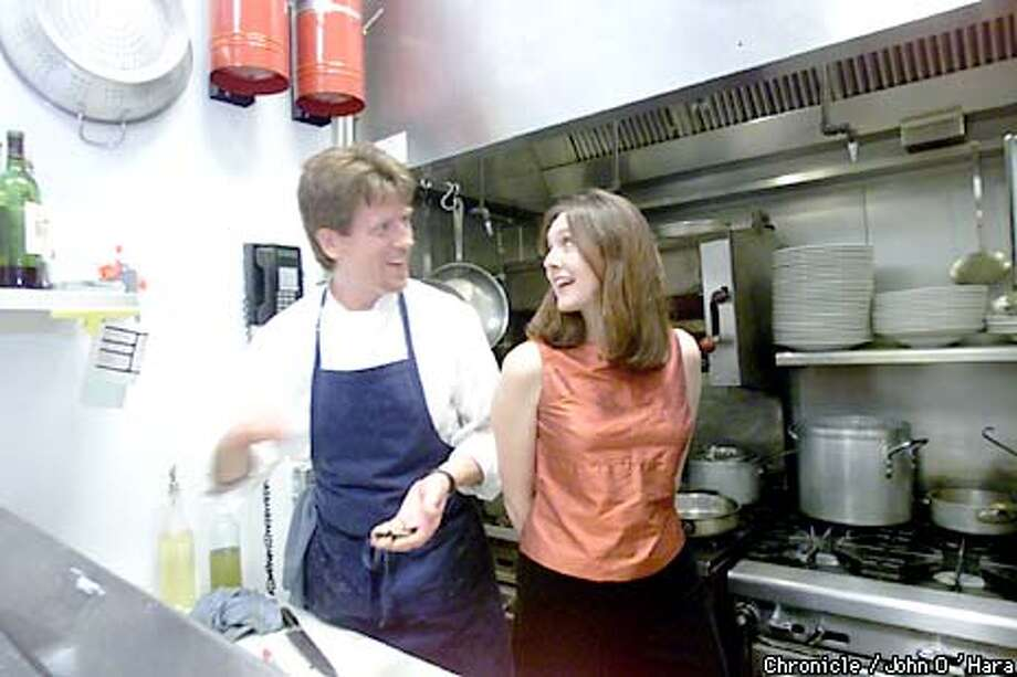 """""""Roux"""" 1234 Main st. St. Helena,CA Vincent Nattress, and his wife Tyla in the kitchen Main dining room. Resturant has 13 tables, total Photo/John O'Hara Photo: John O'Hara"""